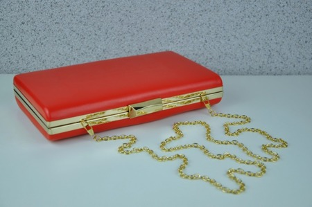 Torebka kopertówka czerwona wizytowa