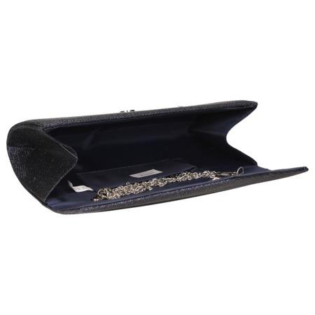 Torebka kopertówka granatowa brokatowa