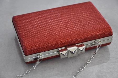 Torebka kopertówka puzderko czerwona wizytowa