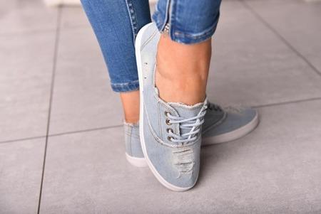 Trampki jeansowe sportowe